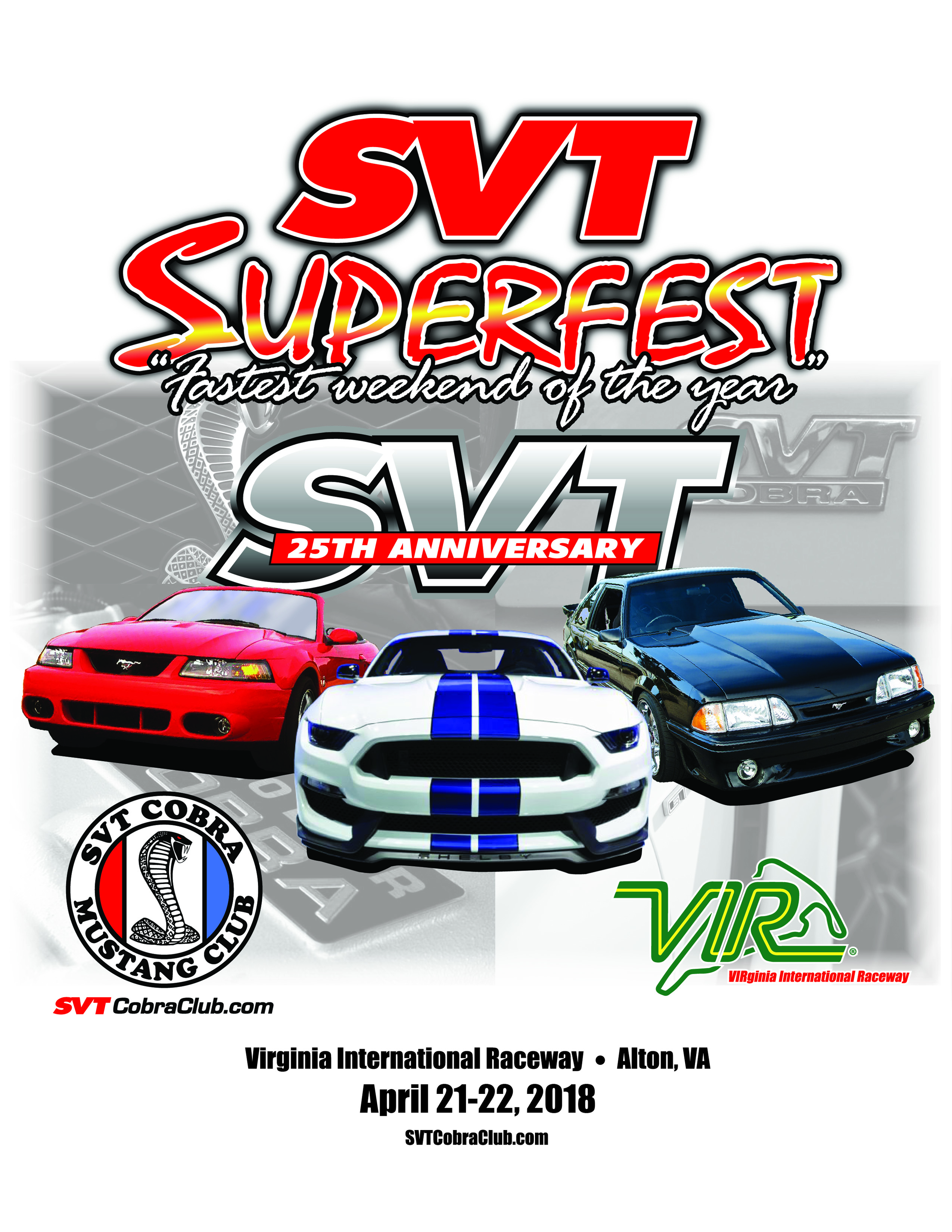 2018 SVT Superfest - Virginia International Raceway - Hosted By SCMC, Shelby GT350 OA, and Track Club USA