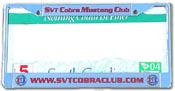 SCMC License Plate Frame With Club URL